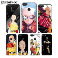 For Huawei P8 P9 P10 P20 P30 Pro Lite P Smart Plus Y6 Y9 2017 Black Soft Silicone Phone Case Anime Bleach One Punch Man Style