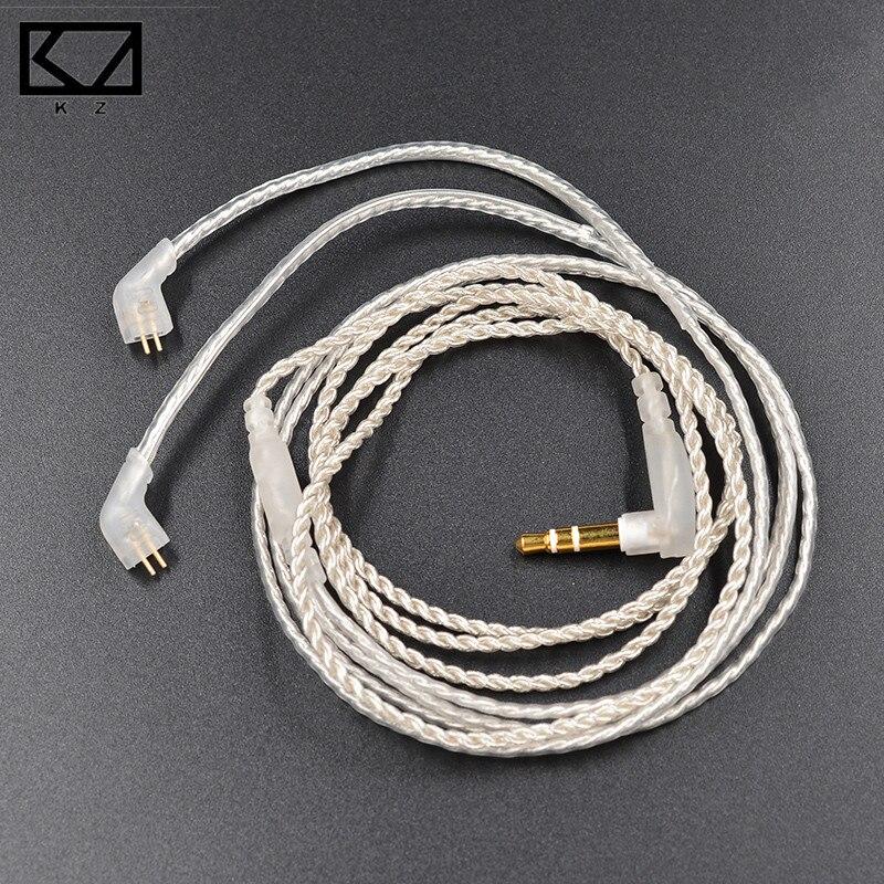 KZ Знч/ED12 серебряный Обновление наушники кабель съемный аудиокабель 3.5 мм 3-полюсный Jack для KZ Знч /ED12 наушники