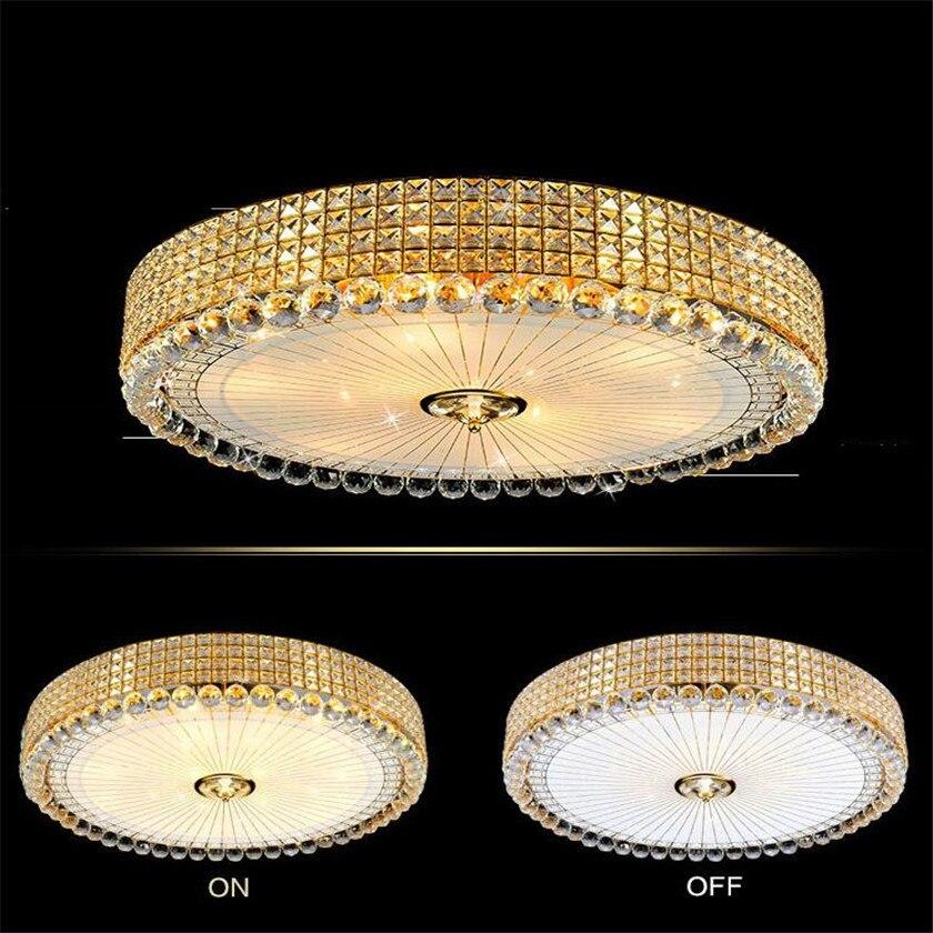 ٩(^‿^)۶Ronde Circulaire LED Lustres Plafonnier Luminaria Or Led ...
