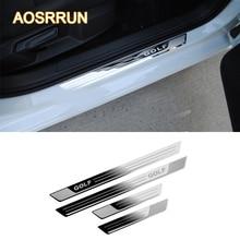 Aosrrun для Фольксваген Гольф 7 MK7 2012-2017 автомобиль-Стайлинг из нержавеющей стали порога Накладка автомобильные аксессуары Наклейки