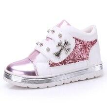 2015 spring and autumn female child sport shoes paillette fashion princess girls shoes