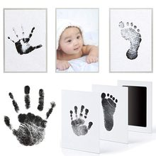Footprint Imprint Kit Baby Ink Pad Storage Memento Ink Newborn Baby Souvenir Drawer Inkless Handprint Casting Photo Frame Kits(China)
