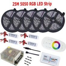25 м 20 15 м 10 м 5 м 5050 RGB светодиодные ленты диод клейкие свет в серии с 2.4g беспроводное устройство RF пульт дистанционного управления усилители домашние питание