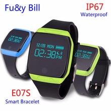 E07S Bluetooth Smart Браслет Watch Sport SmartBand Шагомер сна монитор IP67 Водонепроницаемый Фитнес-трекер Браслет