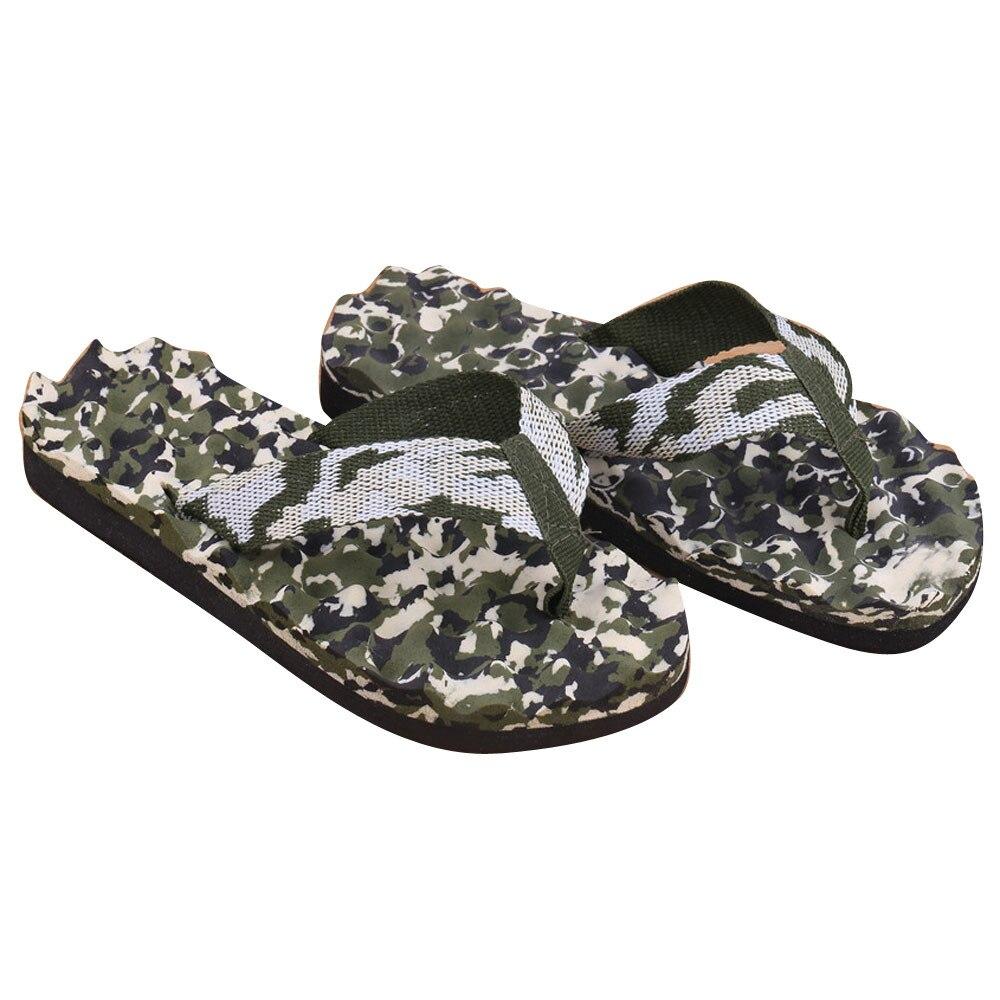 Casual Slippers Men Summer Camouflage Flip Flops Shoes Sandals Slipper indoor & outdoor Flip-flops Zapatillas Hombre Beach Shoes