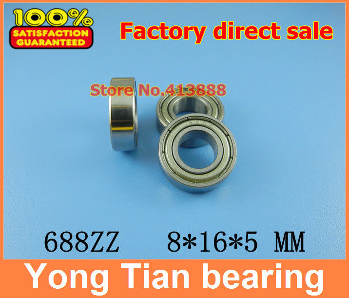 50pcs free shipping thin wall deep groove ball bearing 688ZZ 8*16*5 mm gcr15 6326 zz or 6326 2rs 130x280x58mm high precision deep groove ball bearings abec 1 p0