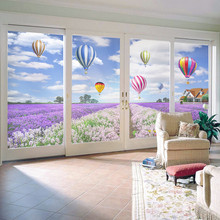 цены Window film balloon glass stickers bathroom film wardrobe sliding door stickers renovation stickers electrostatic film