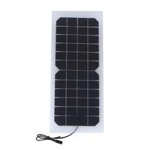 Painel de Células Transparentes com Saída Solar para DIY Sistema e e 10 W 12 V Semi-flexível Solares DC Tamanho 440*190mm Mini Painel Sistema Solar e DIY