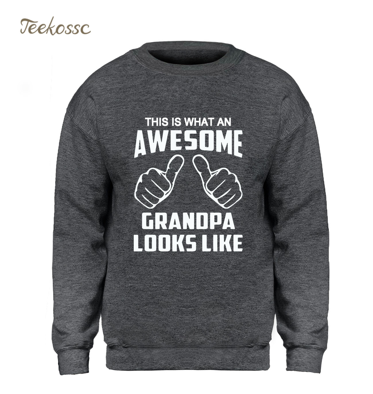This Is What An Awesome Grandpa Looks Like Hoodie Men Funny Graphics Design Sweatshirt Sweatshirts Fleece Warm Sportswear Mens