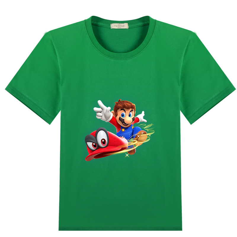 Neue ankunft super mario odyssey 100% baumwolle T-shirts Kurzarm Tops T-shirts Kleidung für Mädchen Kinder