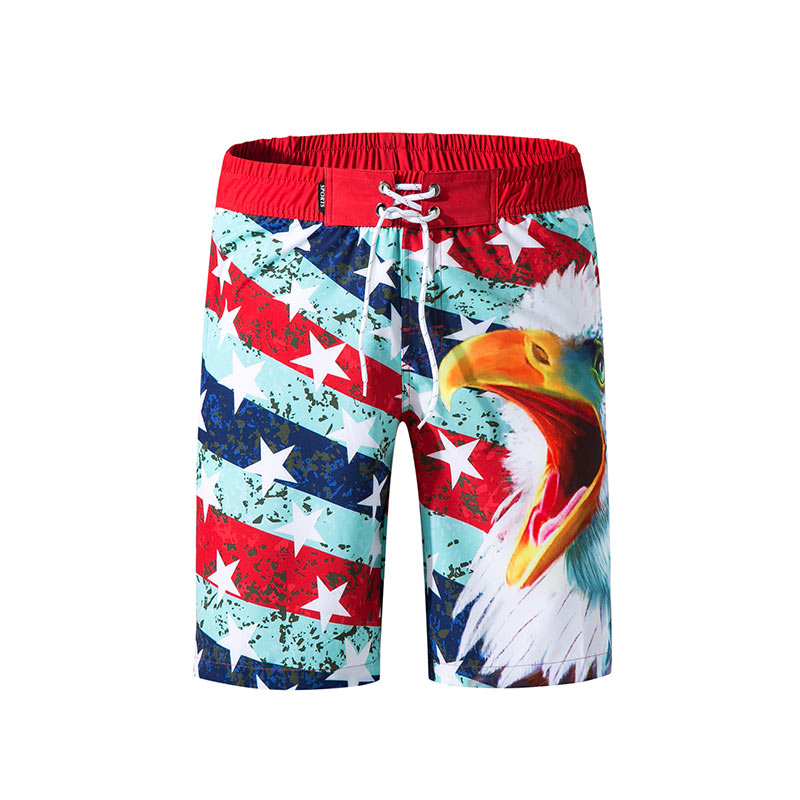 New Arrive Mens Swimsuits Eagle Print Beach Wear Beach   Board     Shorts   Summer Quick Dry Halter Bathing Suits Surffing   Shorts   3XL