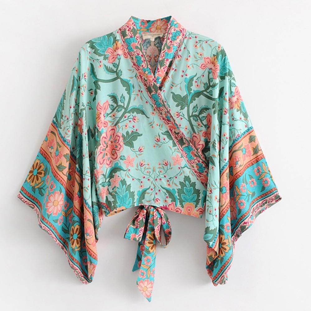 Floreale Vestito Set Loto Spaccato Esterno Top Jacket Donna Boho Pannello Stampa Regolabile Chic Estate E Maxi Vestidos Kimono Da Jastie Wrap Multi Mezzo pSxaxq