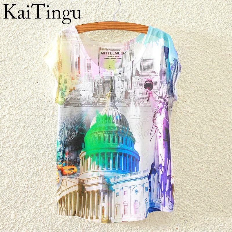 HTB13e0OKVXXXXaFXXXXq6xXFXXX7 - New Fashion Short Sleeve T Shirt Women Tops Eiffel Tower Printed T-shirt
