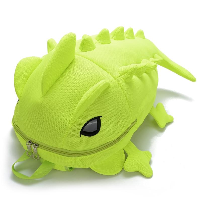Cartoon Chameleon School Backpack Kids Dinosaur Backpacks For Children 3D Animal Students Bags Personality Girls Boys School Bag