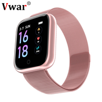 Vwar Sport Smart Watch Heart Rate Monitor Fitness Bracelet Waterproof Bluetooth P68 P70 Smartwatch for IOS Android iphone apple