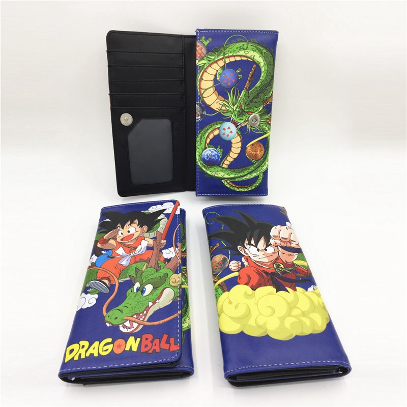Dragon Ball Long Wallets Japan Comic Men Purse Bifold Women Cartoon Clutch Teenagers Gift Handy Bags Money Cards Phone Holders
