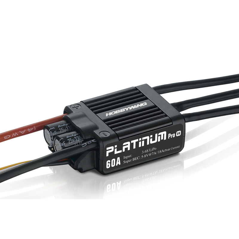 Hobbywing Platinum 60A V4 30215100 brushless ESC 3-6S for RC 450 480 helicopter electronic speed control 30a esc welding plug brushless electric speed control 4v 16v voltage