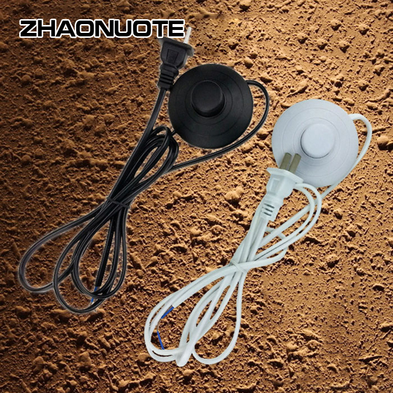 2pcs  Push Button Switch With Cord Plug Power Cable Foot Switch For Floor Lamp Table Light2pcs  Push Button Switch With Cord Plug Power Cable Foot Switch For Floor Lamp Table Light