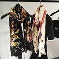 2016 Algodão Macio Chave Scaves da Índia Lurex Lenço Da Listra Modern Moda Luxo Estilo Ink Chiffon Mulheres Wraps Xale Longo Hijab