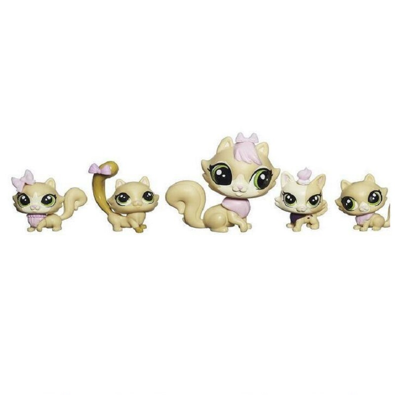 LPS Toy 5pcs Lovely Shop Animals Cat and Rabbit Children Action Figures PVC LPS Toys for Children Birthday/Christmas Gift lps toy 2pcs lovely pet shop animals cats kids action figures lps toys for children birthday christmas gift