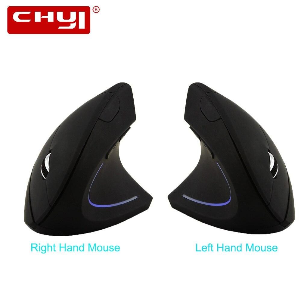 CHYI Ergonômico Vertical Mouse Sem Fio para a Direita/Mão Esquerda 5D Mouses de Computador USB Mouse Óptico Gamer Mause Para Computador Portátil jogo PC