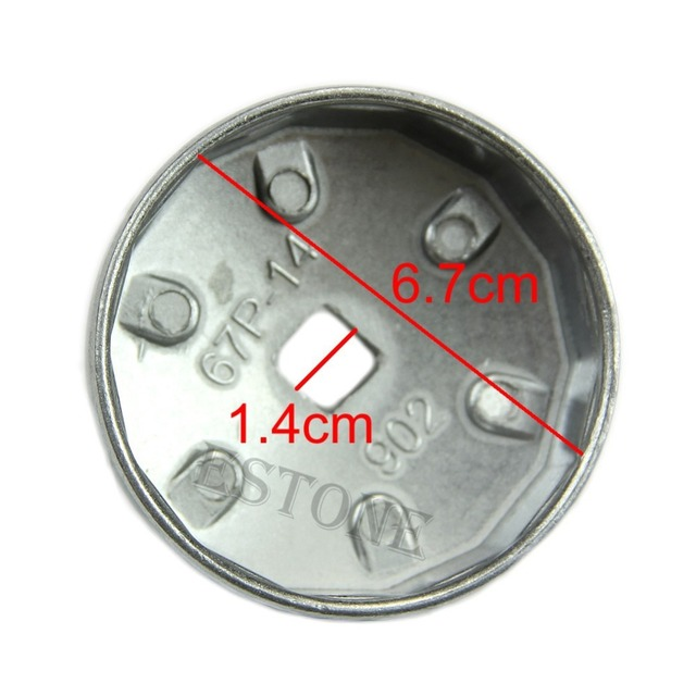902 Type 14 Flutes Cap Style Oil Filter Wrench 67mm Inner Dia For Ford Precision-stamped Hand Tools