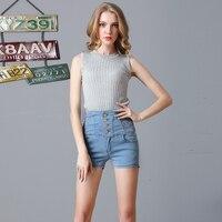 2017 Summer Shorts Women High Waist Denim Shorts Slim Shorts Jeans All Match Short 3 Colors