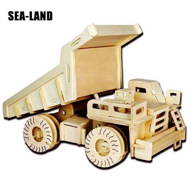 Un jouets pour enfants De 3d Puzzle En Bois Jouets Pour Enfants La Pelle et camion à benne Meilleur Montessori Educationaly bricolage Jouet Comme Un bon Cadeau