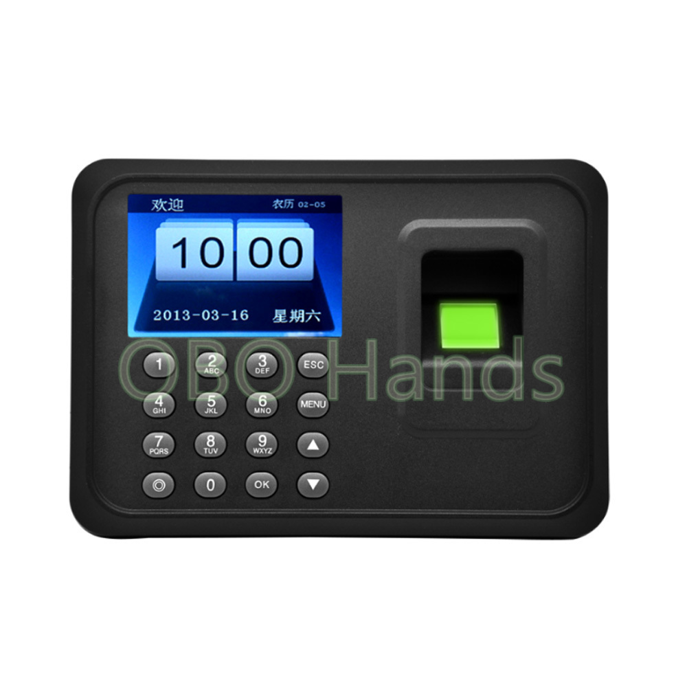 Free Ship USB  Password Biometric Fingerprint Time Attendance System And Time Recorder Control System for employee office usb password biometric fingerprint time attendance machine fingerprint lock system with free software a6 model