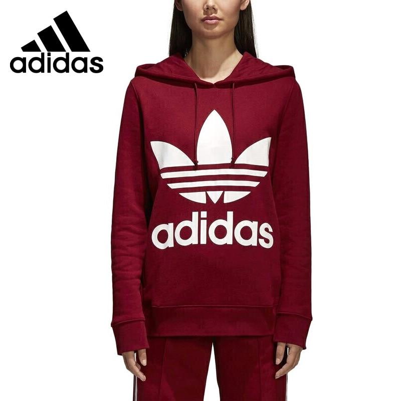 Original New Arrival 2018 Adidas Originals TREFOIL HOODIE Women's Pullover Hoodies Sportswear pullover drop shoulder hoodie