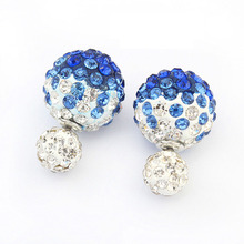 Imitation Diamonds Summer Style High Quality Simple  The New Hot Fashion Four Colors Ball  Earrings  P112768- P112771