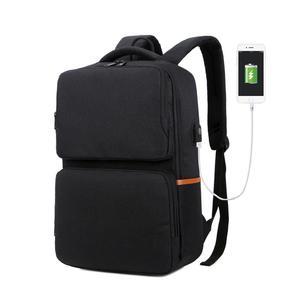 Image 2 - Unisex New Fashion Business Travel USB Backpack Canvas Laptop Computer Bag Big Capacity Backpack Male Female Luggage