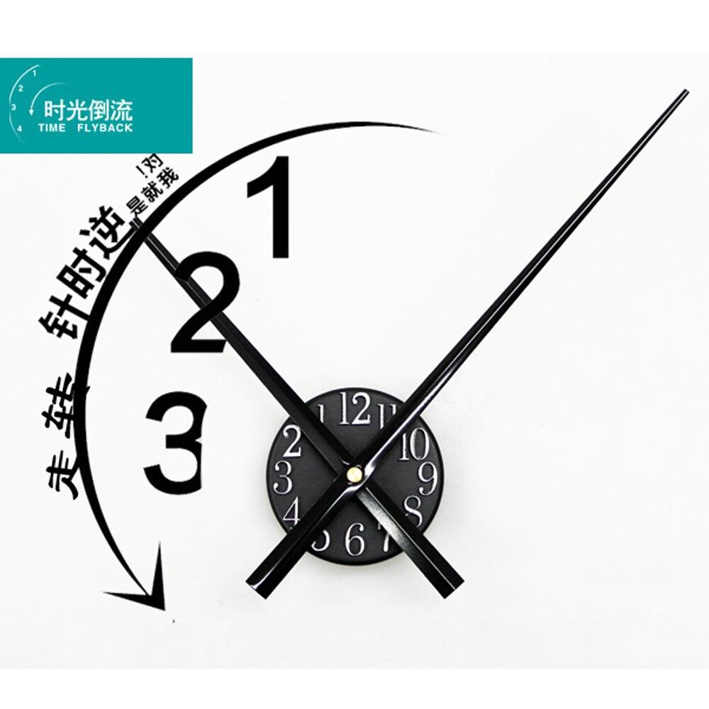 Grosse Horloge Fer Forgé Ξgrande horloge murale design moderne inverser le temps