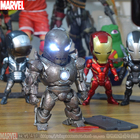 Super Heroes Mini lovely Egg Attack LED Iron Man 3 PVC Figure Toy Cell Phone Pendants With Box Free Shipping