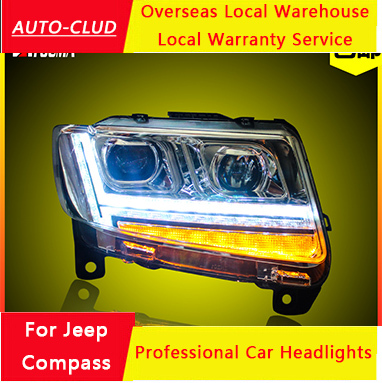 auto clud for jeep compass headlights 2012 14 compass led. Black Bedroom Furniture Sets. Home Design Ideas
