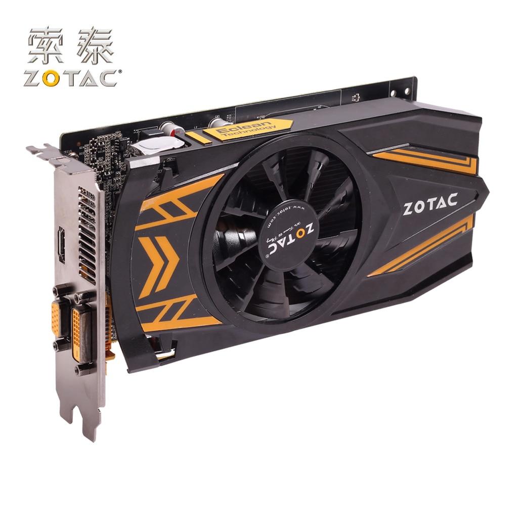 D'origine ZOTAC GeForce GTX 650-1GD5 Cartes Graphiques PC Pour NVIDIA GTX600 GTX650 1GD5 1G Vidéo Carte 128bit GDDR5 Utilisé GTX-650