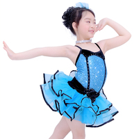 MiDee Girls Leotard Camisole Ballet Tutu Child Spanish Dance Costumes Black Edge Swan Costume