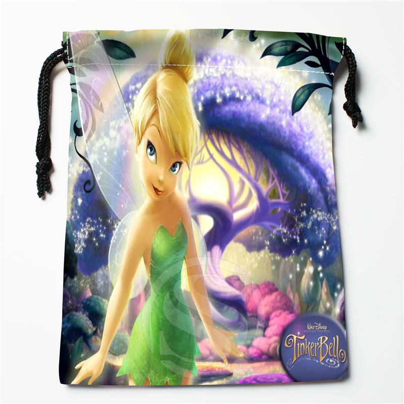 U-32 New Tinker Bell  Custom Logo Printed  Receive Bag  Bag Compression Type Drawstring Bags Size 18X22cm U801!!n32