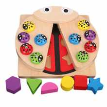 2 In 1 Montessori Educational Wooden Toys For Children 3D Puzzles Geometric Match & Magnetic Fishing Games Kids Toy Gif