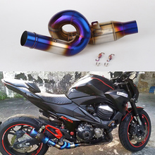 motorcycle exhaust link pipe mid pipe stainless steel fit for 51mm exhaust Convertor  Z800 exhaust z800 link pipe 2012-2017