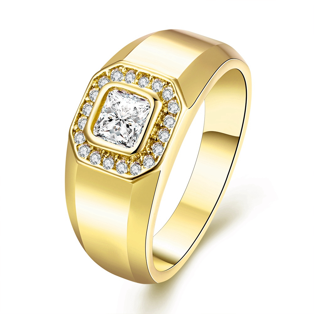 brand classic engagement ring real 24k gold filled