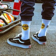Smiley hip hop tide cotton socks, Harajuku style couple cotton socks