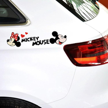 Aliauto Car-styling Cute Cartoon Mickey Mouse Minnie Car Stickers And Decals Accessories for Volkswagen Golf Ford Focus Toyota