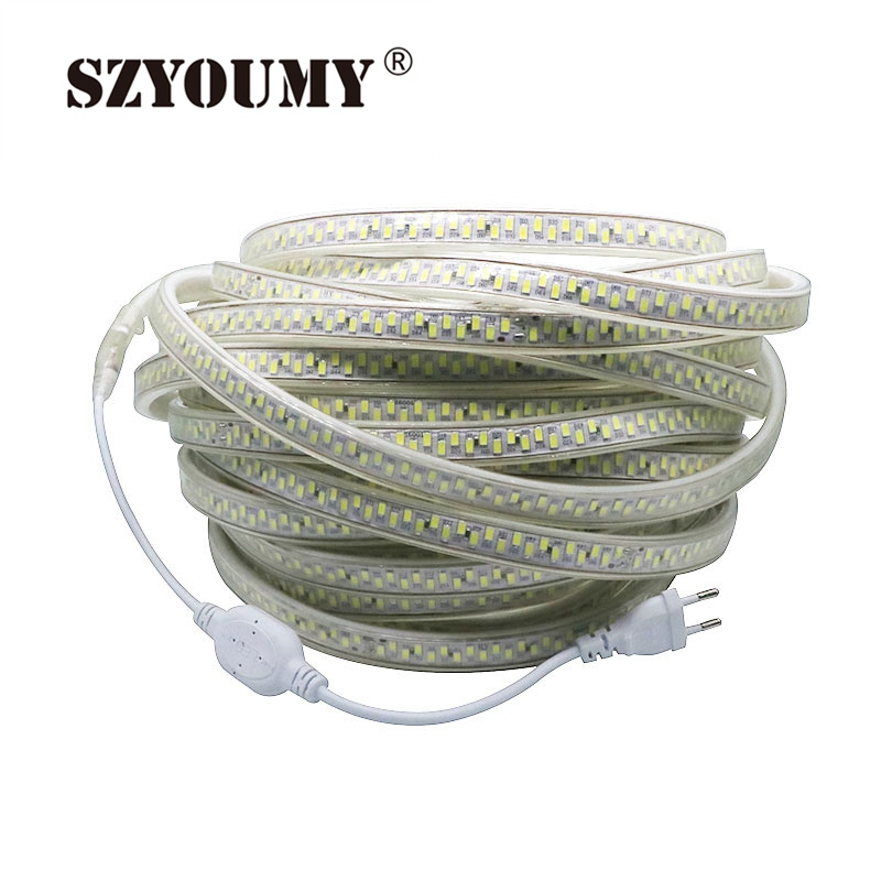 Warm White Waterproof Supper Brightness Home Decoration 100 Meters Lights & Lighting Systematic Szyoumy Led Strip Light 180leds/m 5630 5730 220v Tape White Led Strips