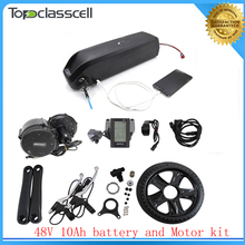 NO taxe Bafang BBS02 48V 750W Ebike Motor with C965 LCD 8FUN mid drive kit+ electric bicycle battery 48v 10ah lithium battery