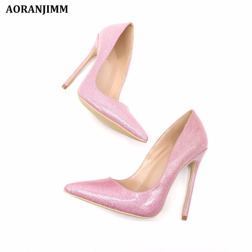 8cm 12cm 33 Libre Pink Venta Alto 44 Glitter Heel Heel Punta Foto Cm 10cm Tamaño 42 Talón Real Envío 12 Señora Caliente Heel Charol 43 Mujer Estrecha Rdw4q61