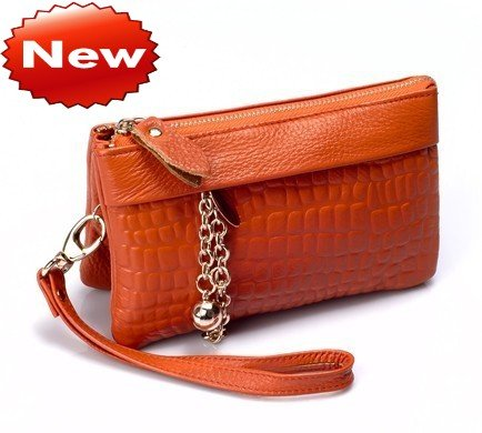 10 Colors Hot Ing Women S Genuine Leather Clutch Bag Wrist Coin Mobile