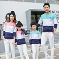 2017 cotton t-shirt striped mother mommy and me daughter father baby clothes matching family clothing sets family look plus size