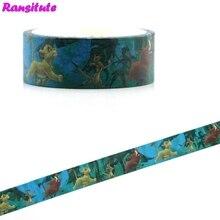 Ransitute R481 Король Лев мультфильм детские игрушки васи лента дорожная лента игрушка украшение автомобиля Съемная ручная наклейка