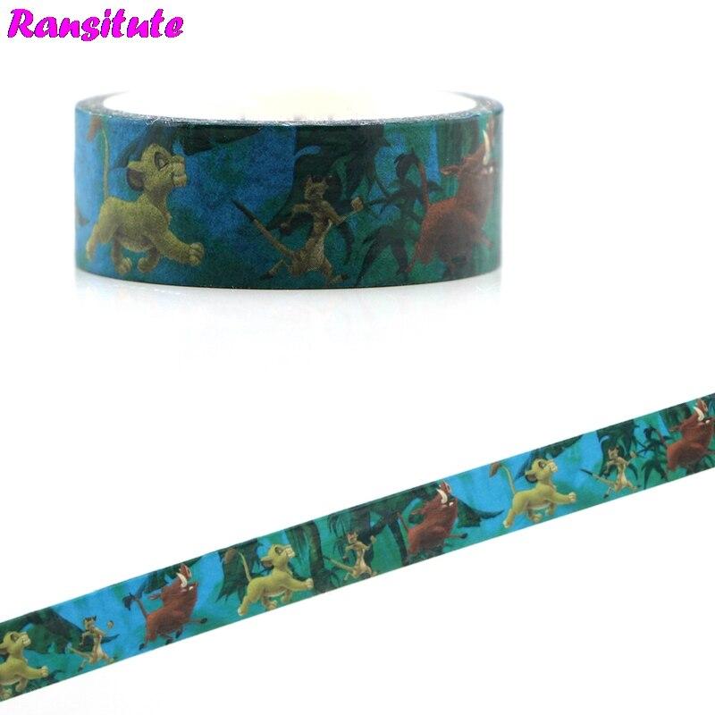 Ransitute R481 Cartoon Children's Toys Washi Tape Traffic Tape Toy Car Decoration Detachable Hand Sticker